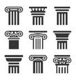 ancient columns icon set vector image