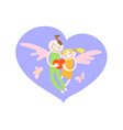 card for saint valentine day loving boy and girl vector image