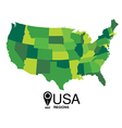 United States Map by states vector image