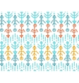 Ethnic seamless pattern Aztec background vector image