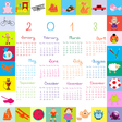 2013 calendar for kids vector image
