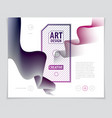 3d shape gradient color abstract art element vector image
