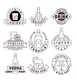 Alcohol drinks emblems badges logo set vector image vector image