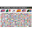 all official national flags world sticky vector image vector image