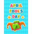 april fools day greeting card template vector image vector image