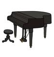 Black grand piano vector image