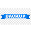 blue tape with backup title vector image vector image