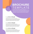brochure template cover design colorful vector image vector image