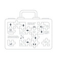 business infographic case with puzzle forms vector image vector image
