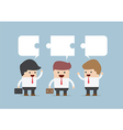 Businessman in conversation Group of businessman vector image vector image