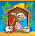 christmas nativity scene 3 vector image