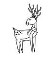 christmas reindeer horns celebration festive vector image