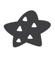 christmas scandinavian star handdraw vector image vector image