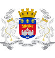 coat of arms of bordeaux in nouvelle-aquitaine is vector image