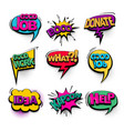 comic text collection sound effects pop art style vector image vector image