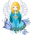 Cute Praing Angel cartoon vector image vector image