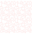 Cute white seamless texture with pink hearts vector image vector image