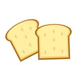 delicious breads slices vector image vector image