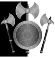 fantasy shields and axes sixth variant vector image vector image