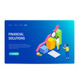 financial solution concept with characters design vector image vector image