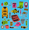 Fishing seamless pattern vector image vector image