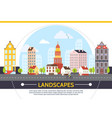flat summer cityscape template vector image