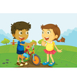 Friends on the farm vector image vector image