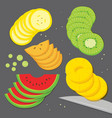 fruit food cook slice cartoon