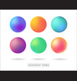 gradient orbs set isolated on white background vector image