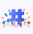 hashtag sign concept hashtag for social media vector image