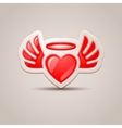heart with wings the icon for your design vector image