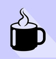 hot cup coffee icon isolated vector image vector image
