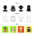 isolated object of imitator and resident icon vector image