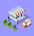 isometric loader worker vector image