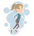jogging woman vector image vector image