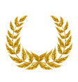 laurel wreath with golden leaves realistic vector image vector image