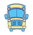 line color school bus transportation to education vector image vector image