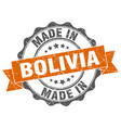made in bolivia round seal vector image vector image