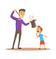 magician pulling out a rabbit from his top hat vector image vector image