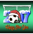 New Year numbers 2017 and soccer ball vector image vector image