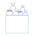 paper bag with pieces of sausages in degraded vector image
