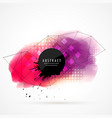 pink and red watercolor grunge with wire mesh vector image vector image