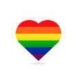 rainbow flag lgbt symbol on heart vector image vector image