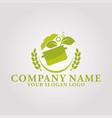 restaurant leaf logo 4 vector image