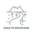 road to mountains line icon linear concept vector image