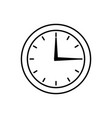 round clock time hour isolated image vector image vector image