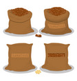 sacks with natural food vector image