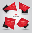 sale flat banner label set cards in material vector image vector image