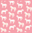 seamless pattern of beautiful horses in pastel vector image vector image