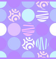 seamless pattern of circles for web design or vector image vector image